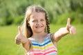 Girl thumbs up