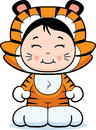 Girl Tiger Royalty Free Stock Photos