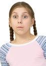 Girl to be amazed Stock Image