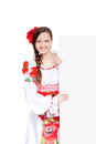 Girl in traditional clothes Royalty Free Stock Image