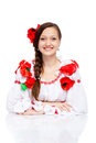 Girl in traditional clothes Stock Image