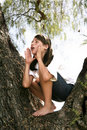 image photo : Girl In The Tree