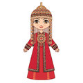 The girl in Turkmen dress. Historical clothes. Royalty Free Stock Photo