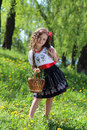 Girl in the ukrainian national costume little Royalty Free Stock Images