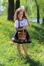 Girl in the ukrainian national costume little Royalty Free Stock Photos