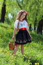 Girl in the ukrainian national costume little Stock Photography