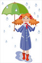 Girl with umbrella. Stock Images