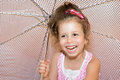 Girl with umbrella portrait of th years Stock Images