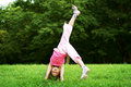 Girl upside-down Royalty Free Stock Photography