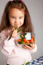 Girl with vegetables Royalty Free Stock Photo