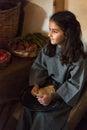 Girl in the village of Ghajnsielem in Gozo, Malta