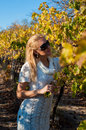 Girl in vineyard Stock Photography