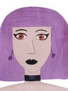 The girl with the violet hair Royalty Free Stock Photo