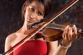 Girl with violin Royalty Free Stock Images