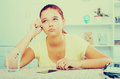 Girl waiting phone call Royalty Free Stock Photo
