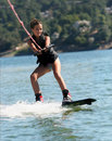 image photo : Girl wakeboarding