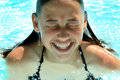 Girl in water Royalty Free Stock Photo