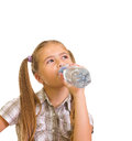 Girl with a water . Stock Image