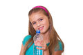 Girl with a water . Royalty Free Stock Photos