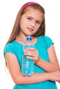 Girl with a water . Royalty Free Stock Photography