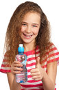 Girl with water Stock Images