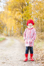 Girl wearing rubber boots Royalty Free Stock Photography