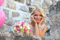 Girl in a wedding dress belgrade serbia Stock Photo