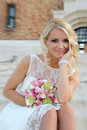 Girl in a wedding dress belgrade serbia Royalty Free Stock Photography