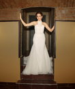 Girl in a wedding dress the interior Royalty Free Stock Photos