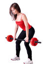 Girl weight lifter Royalty Free Stock Photo
