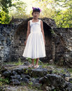 Girl in a White Dress Stock Photos