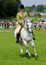 Girl on white horse at Cartmel Show 2011 Royalty Free Stock Photo