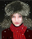 Girl in winter Stock Photos