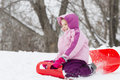 Girl in winter Royalty Free Stock Photos