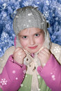 Girl in winter clothes Stock Photos