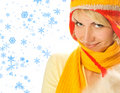 Girl in winter clothing Stock Photo