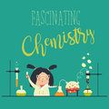 Girl working in the chemistry laboratory