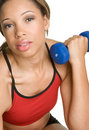 Girl Working Out Stock Image