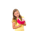 Girl writing. Royalty Free Stock Photos
