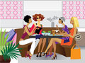 Girlfriends at lunch Royalty Free Stock Photo