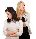 Girlfriends quarrel Royalty Free Stock Photo