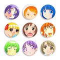 Girls badges Royalty Free Stock Photo