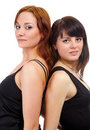 Girls in black dresses Stock Photography