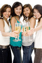 Girls And Champagne Stock Photo