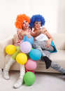 Girls clown. Stock Image