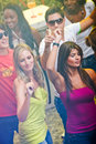 Girls clubbing Royalty Free Stock Photography