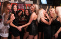 Girls company having fun in the night club Royalty Free Stock Photos