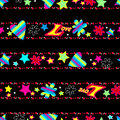 Girls cute Love sequin seamless pattern Royalty Free Stock Photo