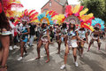 Girls dancing in the Leeds Carnival Royalty Free Stock Image