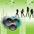 Girls dancing on loud music Royalty Free Stock Photo